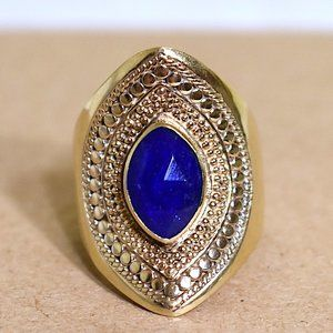 Anna Beck   18K Gold Plated S.S. Marquise-cut Ring